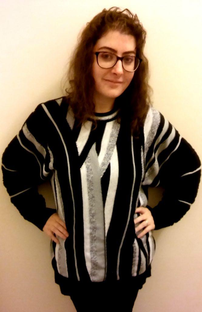 Me in a vintage '80s jumper