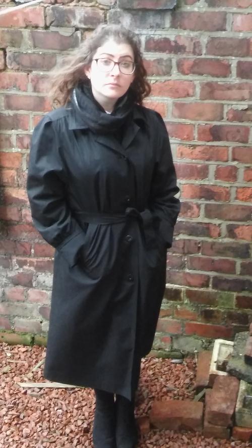 Black vintage '80s trenchcoat