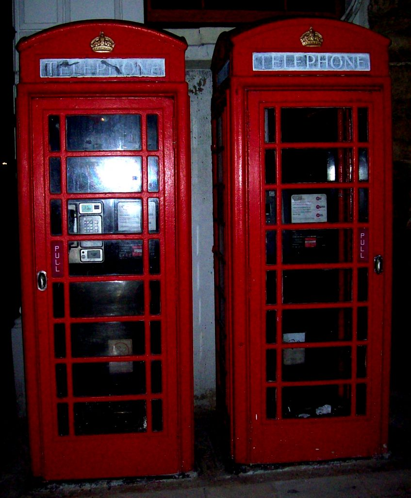 Red phone boxes in Southampton
