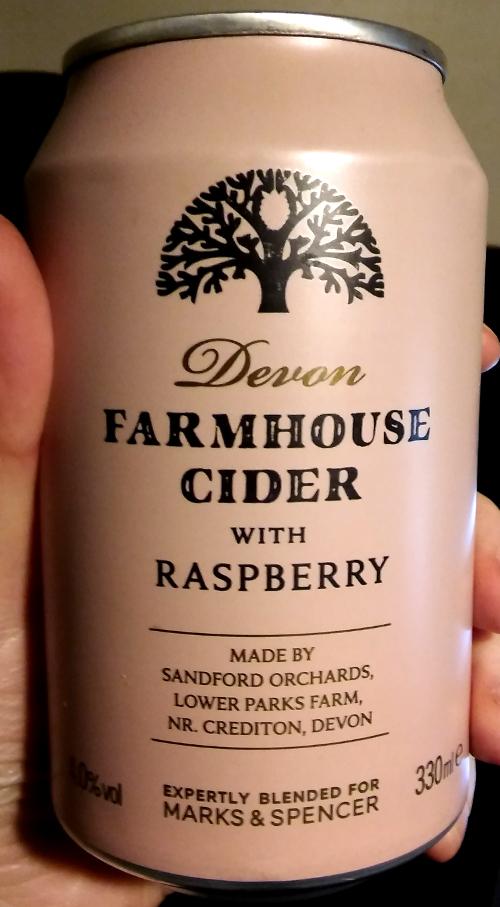 M&S Devon Farmhouse Cider with Raspberry