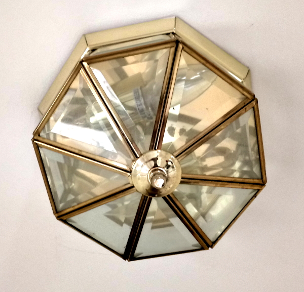 '80s brass light fitting