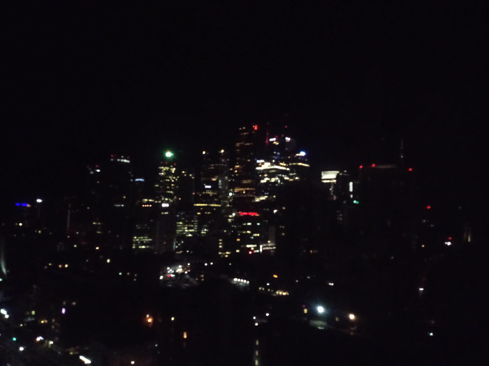 Downtown Toronto by night