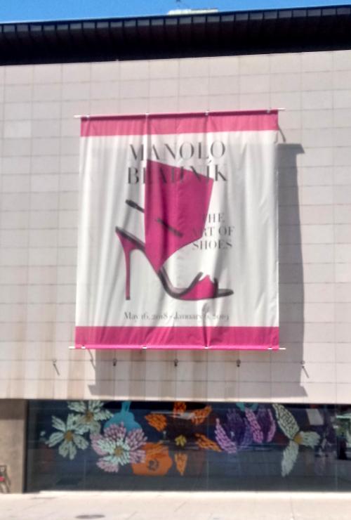Manolo Blahnik exhibition poster at Bata Shoe Museum