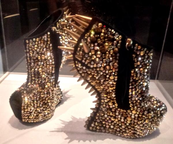 Gold spiky Giuseppe Zanotti platform shoes