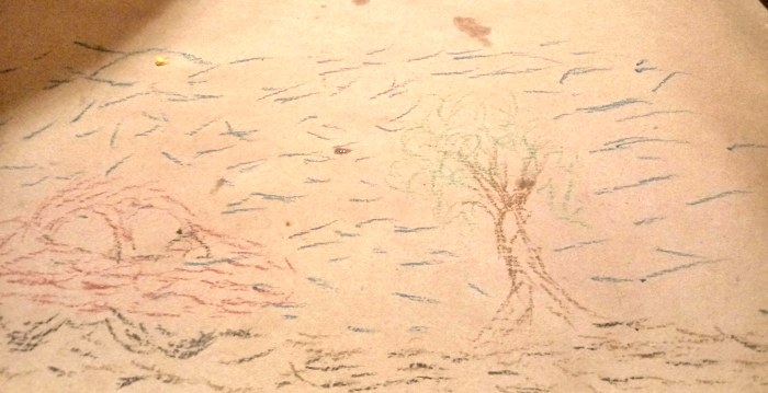 Restaurant table scribblings