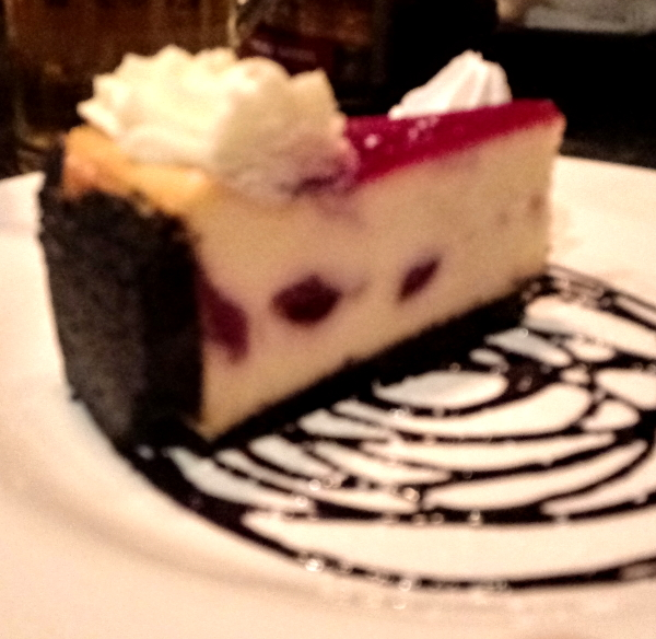 White chocolate and raspberry cheesecake