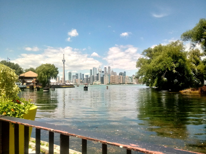 Downtown Toronto from the islands