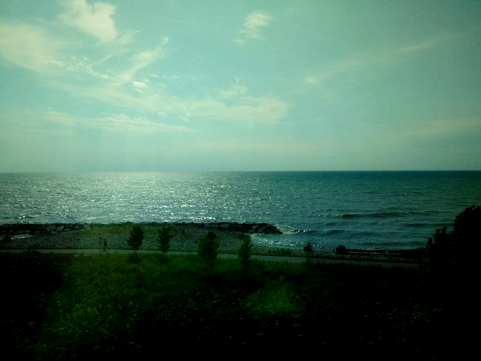 Lake Ontario from the train