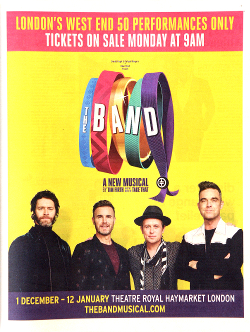 Take That: The Band advert