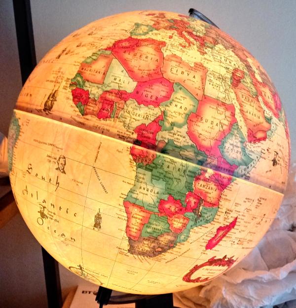 1990s globe lamp