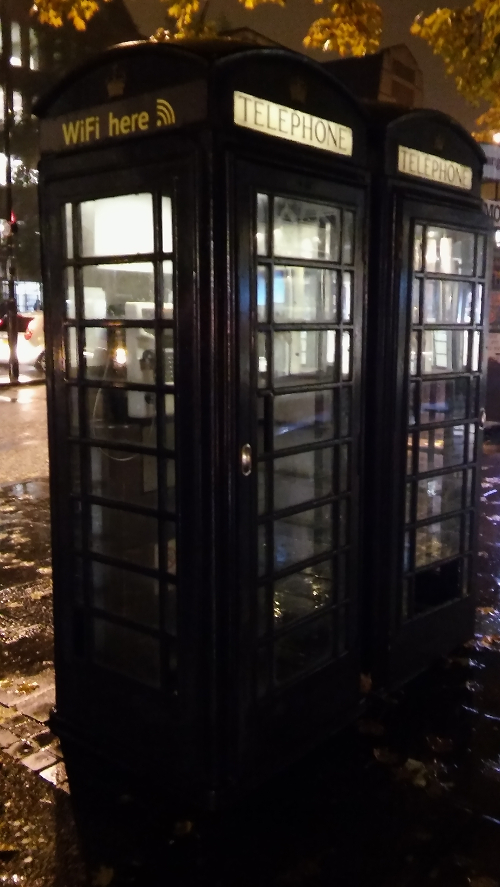 Black phone boxes