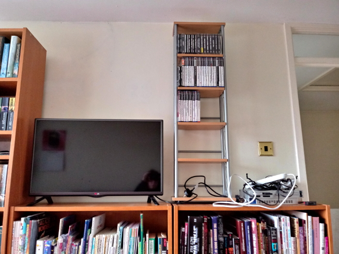 TV, PS2 and games