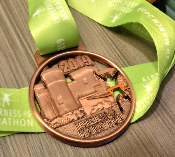 Inverness Half Marathon 2019 medal