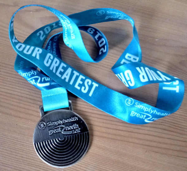Great North 10k 2019 medal