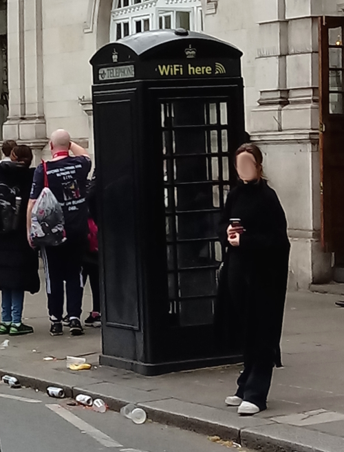 Black phone box