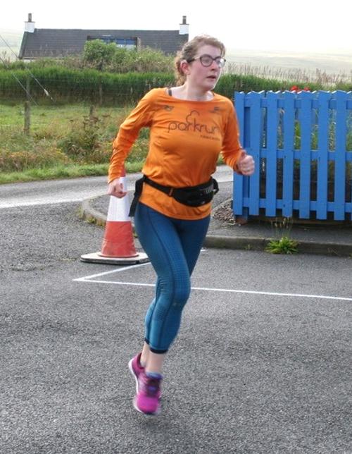 Finishing at Bressay parkrun