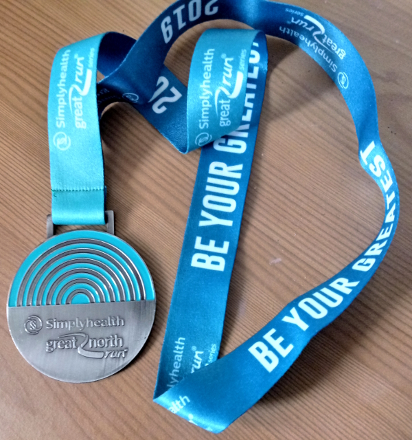 Great North Run 2019 medal