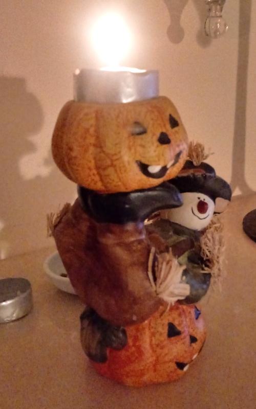 Hallowe'en tealight decoration