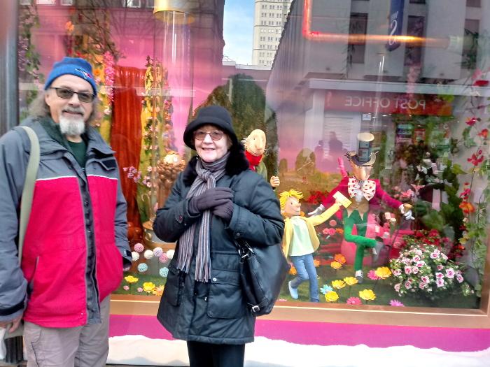 Outside Fenwick's Christmas window
