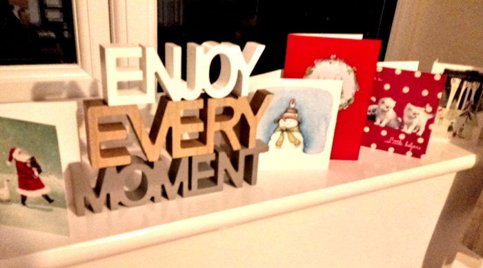 Christmas cards and presents