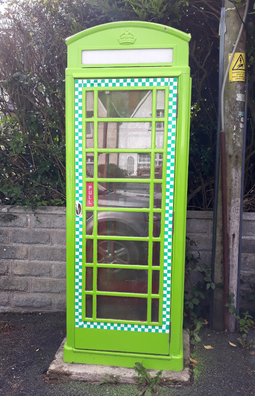 Green phone box