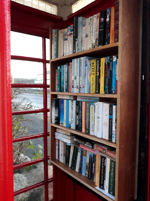 Red phone box library