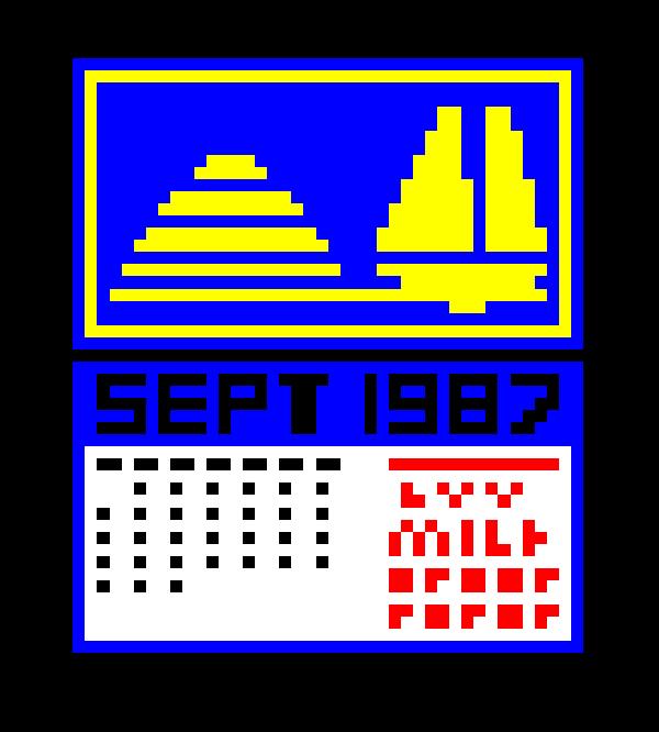 Pixel calendar