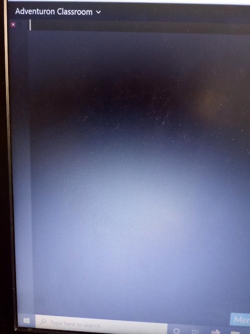 Adventuron blank screen