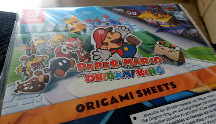 Paper Mario origami sheets