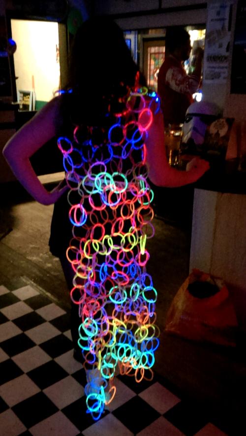 Glow bracelet cape