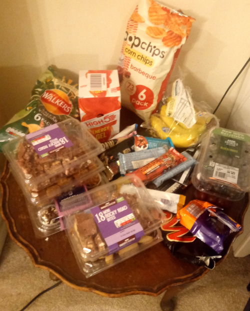 Running endurance snack table