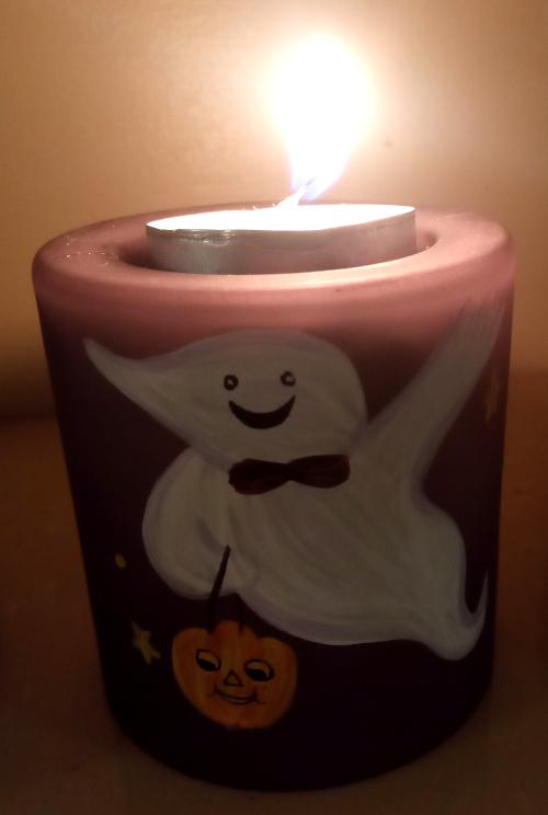 Hallowe'en tealight holder