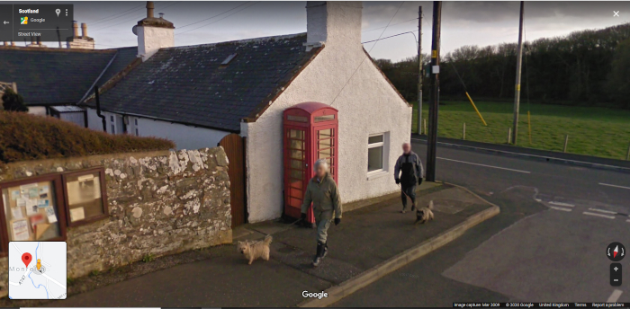 Phone box from Google Street View