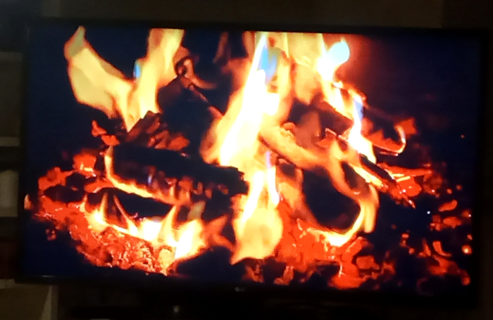 Fireplace on TV