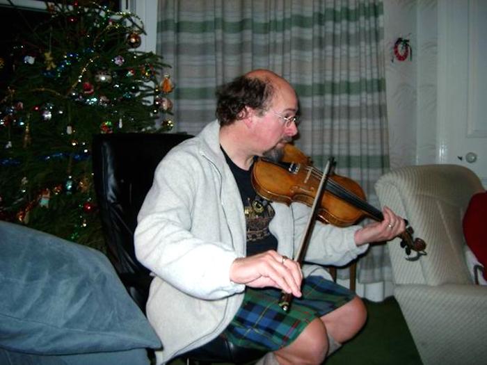 Fiddle playing, Hogmanay 2001