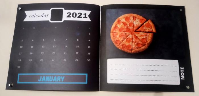Pizza calendar