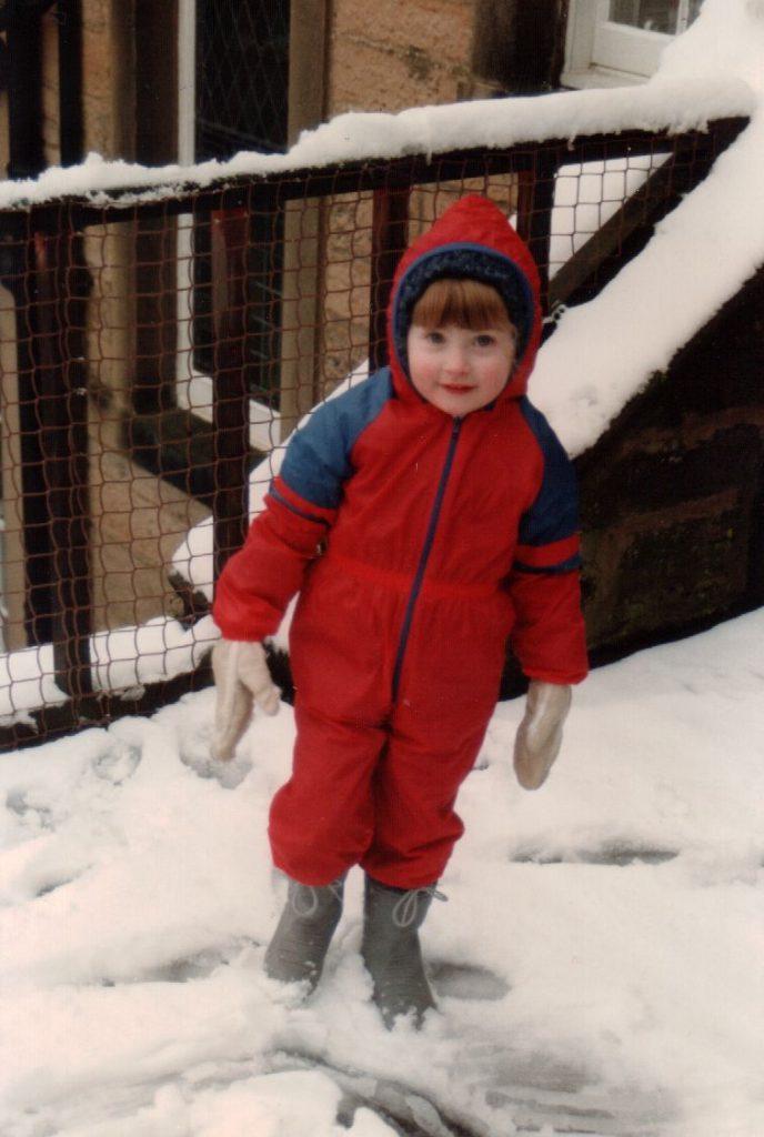 Snow suit, February 1989