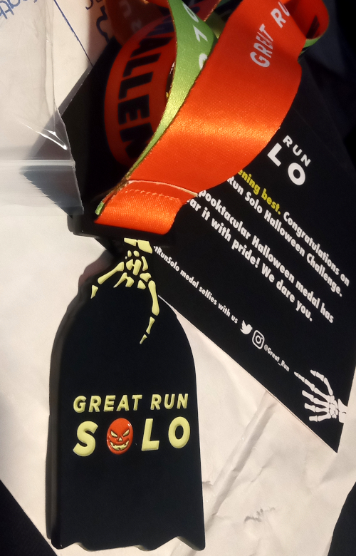 Great Run Solo Hallowe'en Challenge medal