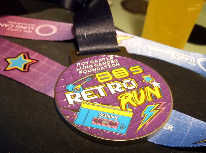 Retro Run Series medal