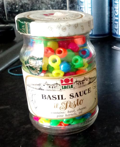 '80s Sacla pesto jar