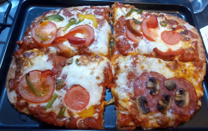 Non-Hogmanay pizza