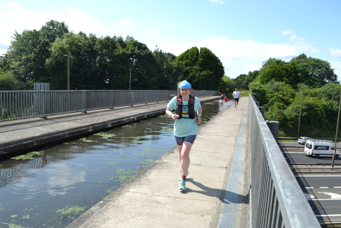 Running along the Union Canal