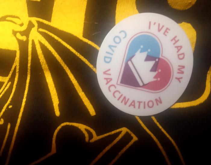 COVID vaccination sticker