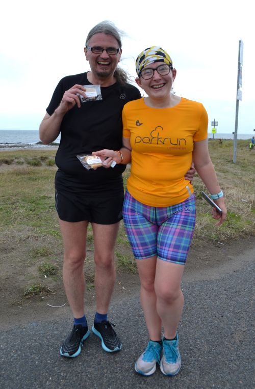 parkrunners with tablet!
