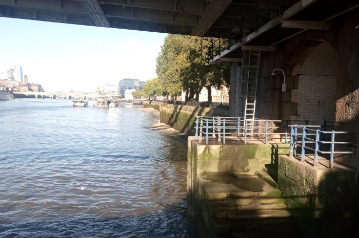 Underneath Tower Bridge