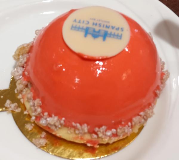 Rhubarb and custard cheesecake
